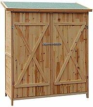 Wiltec XXL Holz Gerätehaus Geräteschuppen