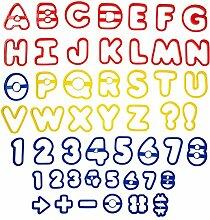 Wilton Alphabet und Zahlen Plätzchen-/