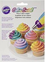 Wilton Colour Swirl 3 Farben-Spritzbeutel-Kupplung