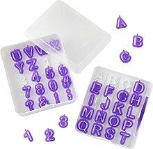 Wilton Fondant-Ausstecher-Set Buchstaben und
