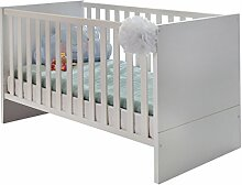 Wimex B01222 Babybett, Holz, alpinweiß / absätze