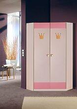 Wimex Eckschrank 304511 Cindy, Weiß, Abs. Rosé,