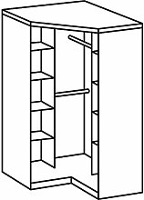 Wimex Kleiderschrank/ Eckschrank Click, 2 Türen,