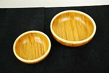 WIN Bambus-Schüssel 2er-Set niedrig 15,24cm