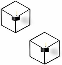 Win-Y Wandteelichthalter Metall Kerzenständer