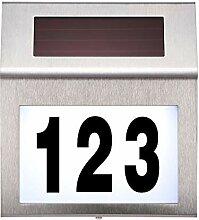 Winbang Hausnummer Lampe, LED Solar Wand Nummer
