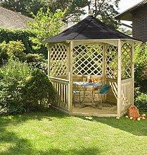 Winchester Gartenlaube mit Schindeldach (mittelgroß) Gartenhaus aus Holz günstig kaufen.