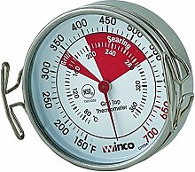 Winco Grill Surface Thermometer with Pot Clip,