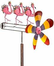 Wind & Wetter Flamingo Chorus Line Whirligig