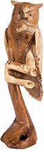 WINDALF Deko Holz Eule RAYA h: 105 cm Garten Eulen Figur Gartendeko Handarbeit aus Holz