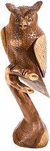 Windalf Deko Holz Eule Rayan h: 100 cm Eulen Figur