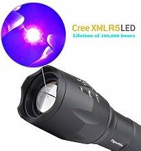 WindFire UV-Schwarzlicht-Taschenlampe, mit Zoom,