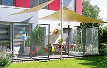 WindFix Windschutz Glasabtrennung Windabweiser Terrasse Glas Gartenzaun Garten Windfang Sichtschutz Zaun Begrenzung ( 1029 cm)