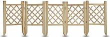 Windhager Beeteinfassung Bambus, 5-teilig, 35 x 100 cm, beige