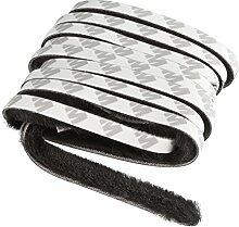Windhager Insektenschutz Dichtungsbürste Dichtungsband Klebebürste, für Rollofenster und Rollotüren, selbstklebend, schwarz, 200 cm, 03787