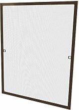 Windhager Insektenschutz Fenster AluProfi, 140 x 150 cm, braun, 03717