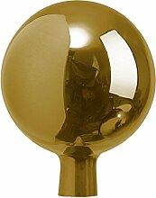 Windhager Rosenkugel Gartenkugel Sonnenfänger-Kugel, Glas-Deko für Garten und Terrasse, winterfest, mundgeblasen, GOLD, 16 cm