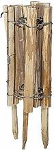 Windhager Staketenzaun Gartenzaun natürlich und unbehandelt Beeteinfassung, Braun, 120 x 33/50 cm, 06908