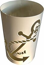 Windlicht Anker 25/15 cm weiß pulverbeschichtet (Rost,Edelrost,Rostsäule, Edelrostsäule)