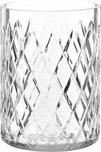 Windlicht aus geformtem Glas H16