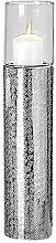 Windlicht Detroit Aluminium silber Höhe 48 cm, Garten, Wohnung, Deko