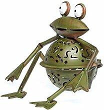 Windlicht Frosch 23cm Teelichthalter Garten garden tealight holder frog