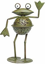 Windlicht Frosch 31cm Teelichthalter Garten garden