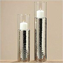 Windlicht Gisa H38 D10cm Metall/Glas