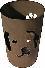 Windlicht Hund 25/15 cm Rost,Edelrost (Rostsäule, Edelrostsäule)
