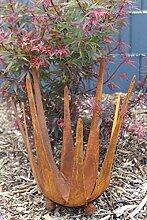 Windlicht Lotusblüte Feuerschale Kerzenhalter