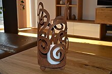 Windlicht Ornament zum Stellen inkl. Kerze Metall
