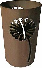 Windlicht Pusteblume 25/15 cm Rost,Edelrost (Rostsäule, Edelrostsäule)