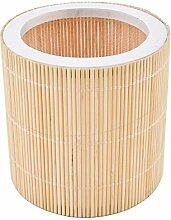 Windlicht rund Bambus Design natur Asia Garten (8x8x8cm)