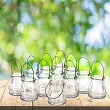 Windlicht-Set aus Glas Brambly Cottage