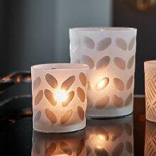 Windlicht-Set mit geometrischem Muster