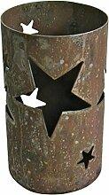 Windlicht Stern 25/15 cm Rost,Edelrost (Rostsäule, Edelrostsäule)