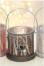 Windlicht, Teelichthalter REINDDER Glas H. 12,5cm