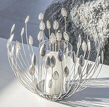 Windlicht Trevi Metall antik silber