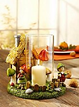 Windlicht Wichtelhausen Kerzenhalter Laterne Kerzenständer Dekoration NEU