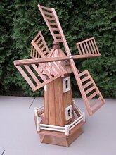 Windmühle aus Holz für Garten kugelgelagert 110 cm GROß