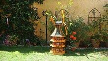 Windmühle, mit dickem Bitumen, mit Windrad,