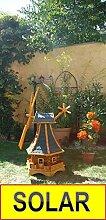 Windmühle, mit dickem Bitumendach, mit Windrad,
