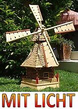 Windmühle, mit Holzschindel - Dach SOLAR