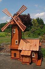 Windmühle mit integrierter Wassermühle++kugelgelager