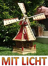 Windmühle, mit Mühlenflügel + KUGELLAGER + 2X