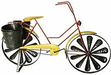 Windrad Fahrrad mit Pflanztöpfe zum Stellen aus