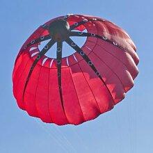 Windrad - Krake Bol rot - für leichten bis