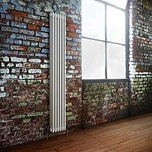 Windsor - Traditional 6 x 3 Column Radiator Cast Iron Style White 1800mm x 293mm