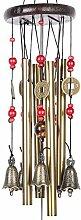 Windspiel, 4 Röhren, 5 Glocken, Kupfer, Hof,