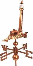 Windspiel 66x43cm Motiv Leuchtturm Wetterfahne